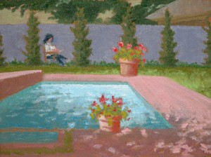 """Flowers by the Pool\"""