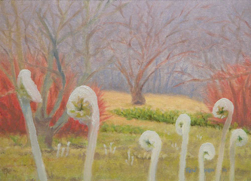 """Mist and Fiddleheads"""