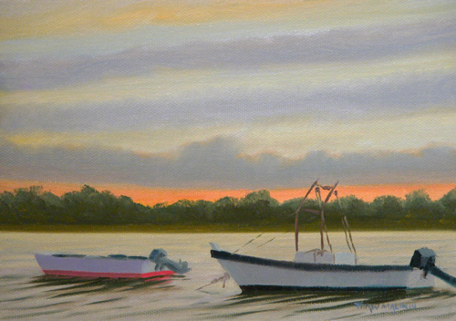 """Sunset Oyster Boats"""