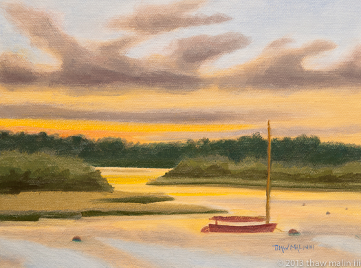 """Quitsa Sunset, Sailboat"""
